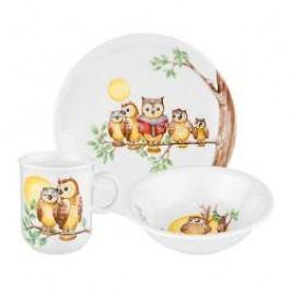 Seltmann Weiden Compact Kindersets Children Set 'Owl' 3 pcs
