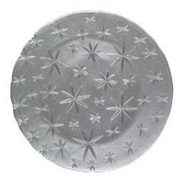 Nachtmann Gläser Christmas Stars - Crystal Glass Charger Plate / Underplate Set 2 pcs Colour: silver, Material: glass, 32 cm