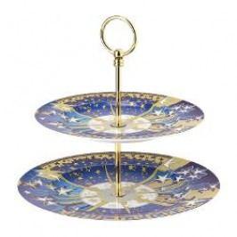 Rosenthal Versace Infinite Dreams - Christmas Serving Stand 2 pcs Plate upper 22 cm / plate below 27 cm