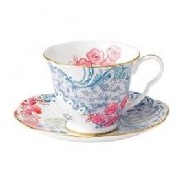 Wedgwood Butterfly Bloom Tea Cup Blue and Pink 2 pcs