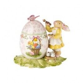 Villeroy & Boch Bunny Family Can 'Female bunny is painting' egg-formed 13x9x12 cm