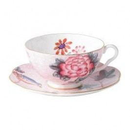 Wedgwood Harlequin Collection Cuckoo Tea cup set, color: pink tea cup 0.18 l + saucer