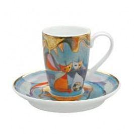 Goebel Rosina Wachtmeister Table Top Espresso Cup 2 pcs Notte italiana h: 8 cm / 0,1 L