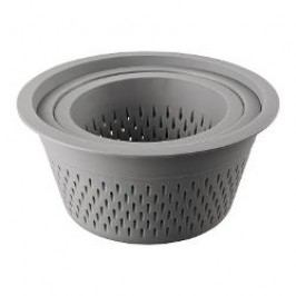 Thomas Kitchen Strainer 3-piece set, material: plastic, color: grey 1.5 l / 2.5 l / 4.0 l