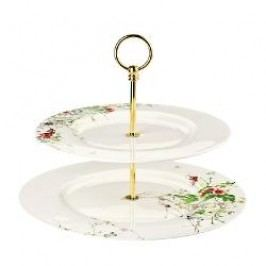 Rosenthal Selection Brillance Fleurs Sauvages Serving stand 2-piece set upper plate 28 cm / lower plate 33 cm