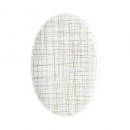 Rosenthal Selection Mesh Line Walnut Platter, 18 cm