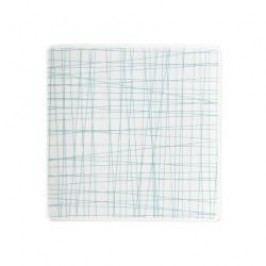 Rosenthal Selection Mesh Line Aqua Plate square flat 14 cm