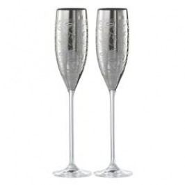 Eisch Champagne Exclusive - Gift Set Sparkling Wine Glasses engraved platinum in gift box 2 pcs / 180 ml