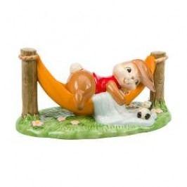 Goebel Gartenhasen Decorative figurine 'Rabbit's favourite place' h: 8 cm