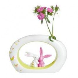 Goebel Bunny de luxe - Seasonal & Colour Bunnies Vase 'Pink Apple Bunny' h: 12,5 cm