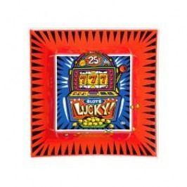 Goebel Artis Orbis - Pop Art - Burton Morris Bowl square porcelain 'Jackpot' 16x16 cm