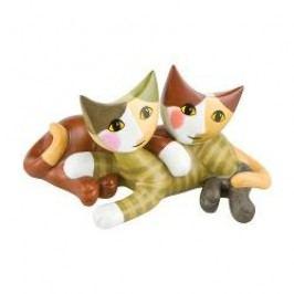 Goebel Rosina Wachtmeister - Rosinas Katzen Decorative figurine cats 'Fillippa e Divo' 13x7 cm