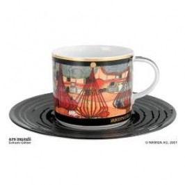 Königlich Tettau Hundertwasser Coffee Edition Coffee Cup L Expulsion with Saucer 0.21 L