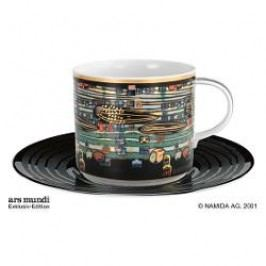 Königlich Tettau Hundertwasser Coffee Edition Coffee Cup the Singing Whales with Saucer 0.21 L