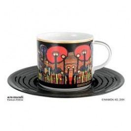 Königlich Tettau Hundertwasser Coffee Edition Coffee Cup Attention Grass with Saucer 0.21 L