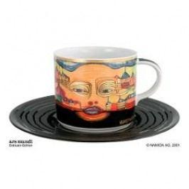 Königlich Tettau Hundertwasser Coffee Edition Coffee Cup Irinaland with Saucer 0.21 L