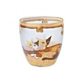 Goebel Rosina Wachtmeister - Wohnaccessoires Glass tea-light holder 'Dina e Saverio-Terra e Sole' h: 8.5 cm