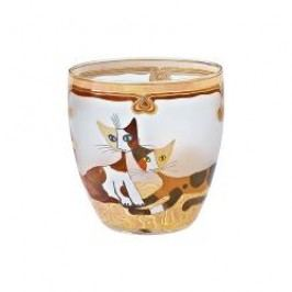 Goebel Rosina Wachtmeister - Wohnaccessoires Glass tea-light holder 'Camilla e Casio-Terra e Sole' h: 8.5 cm