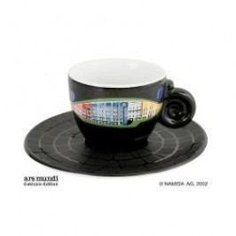 Königlich Tettau Hundertwasser Espresso Edition Espresso Cup Bad Blumau with Saucer