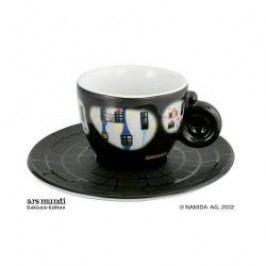 Königlich Tettau Hundertwasser Espresso Edition Espresso Cup Bad Soden with Saucer