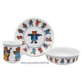 Arzberg Bear Orchestra Childrens Set 3 Pcs Breakfast Plate, Dessert Bowl, Mug with handle