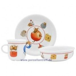 Arzberg Kitchen Mouse Childrens Set 3 Pcs Breakfast Plate, Dessert Bowl, Mug with handle