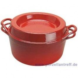 Le Creuset Casserole Doufeu Roaster Doufeu Round 26 cm, cherry red