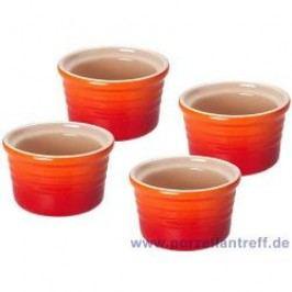 Le Creuset Poterie Ramekins Ramekins Set (4 Pcs) 8.0 cm, oven red