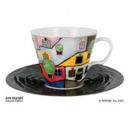 Königlich Tettau Hundertwasser The universal Six Cappuccino cup 'The Tree Tenants' 2 pcs 0.23 l