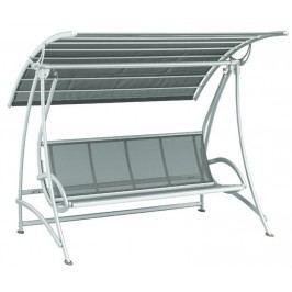 Kettler VIP 3-Sitzer-Gartenschaukel Aluminium/Textilene Silber/Anthrazit