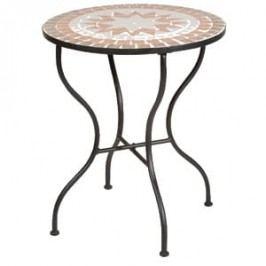 Siena Garden Finca Mosaik-Tisch Ř70 cm Eisen Schwarz