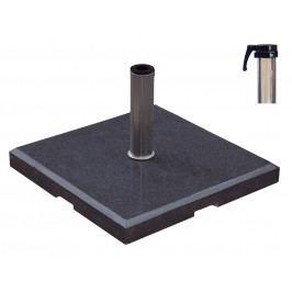 HS Concept - Granitschirmständer 90kg quadratisch mit Rohr