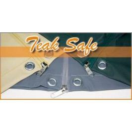 Heinemeyer Schutzhülle für Triangeltisch dreischenklig 170cm , Teak Safe grau mit Gummizug