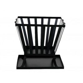 Siena Garden Feuerkorb Torino 44,5 x 44,5 x 37,5 cm, Stahl schwarz mit Bodenplatte
