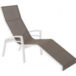 Stern Balance Bäderliege Aluminium/Textilene Weiß/Taupe
