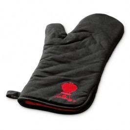 Weber Grillhandschuh, schwarz, mit rotem Kugelgrillaufdruck