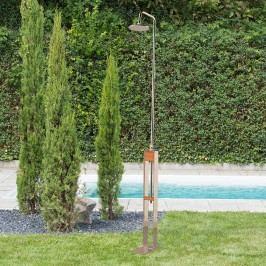 Ideal Altena Gartendusche Kaltwasser Edelstahl/Holz