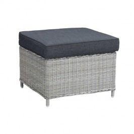 Best Barcelona Beistelltisch/Hocker 65x65 cm Geflecht Warm Grey