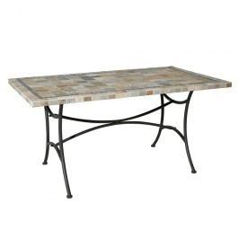 Siena Garden Gartentisch Valona Tisch 150x90 cm Stahl/Keramik Anthrazit/Mosaik