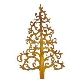 Denk Wanddekor Baum Metall  Gold