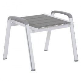MWH Futosa Hocker Aluminium/Textilene Polarweiß/Grau