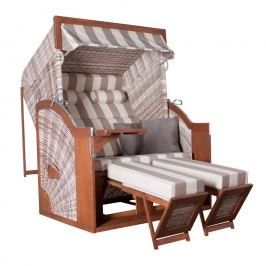 deVries Pure® Comfort XL Strandkorb Halblieger Seashell Dessin 422