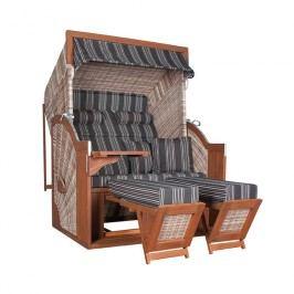deVries Pure® Comfort XL Strandkorb Halblieger Seashell Dessin 423