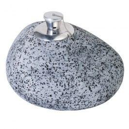Stern Feuerstein 30x26x20cm Vintage grau mit Tank und Docht