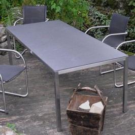 SIT Manhattan Gartentisch 210x95 cm Edelstahl/HPL Anthrazit