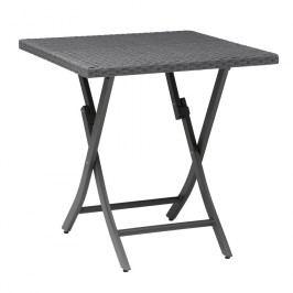 Kettler Bistro Tisch 70x70 cm Geflecht Anthrazit