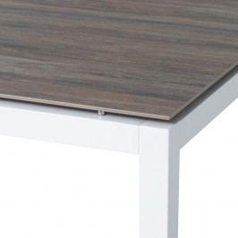 Stern Tischgestell 250x100 cm Aluminium Weiß