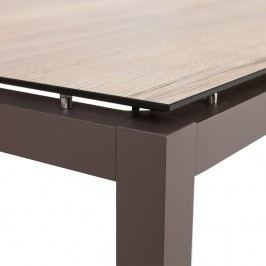 Stern Tischgestell 250x100 cm Aluminium Taupe