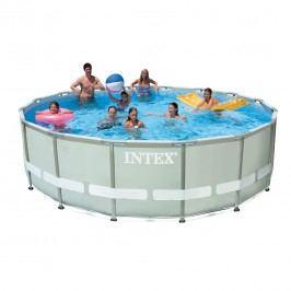 INTEX Ultra Frame Pool-Set Ř488cm mit Kartuschenfilter Grau