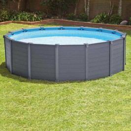 INTEX Graphit-Panel Pool-Set Ř478 mit Sandfilterpumpe Grau